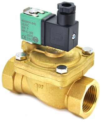 "Solenoid Valve 2""BSP 2/2 NO Brass EPDM WRAS 0.5-9bar 230VAC IP65"